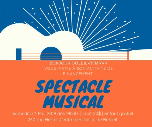 Spectacle bénéfice | Bonjour Soleil
