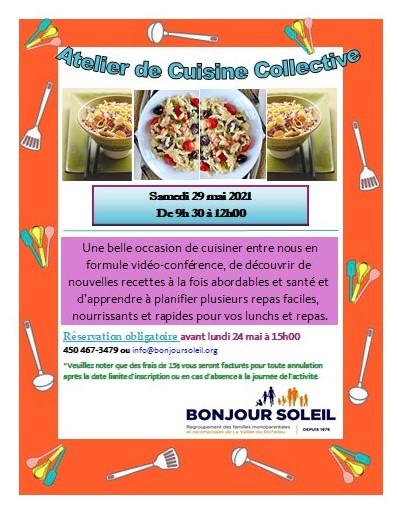 Atelier de Cuisine Collective -Salades Estivales